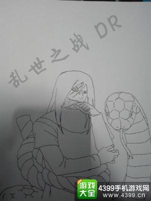 火影忍者手游手绘第十三期 角色简笔画