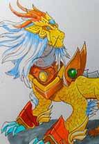英雄之境绘画作品-原创守护麒麟