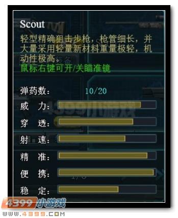 生死狙击Scout属性