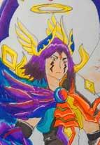 英雄之境绘画作品-原创英雄艾兰