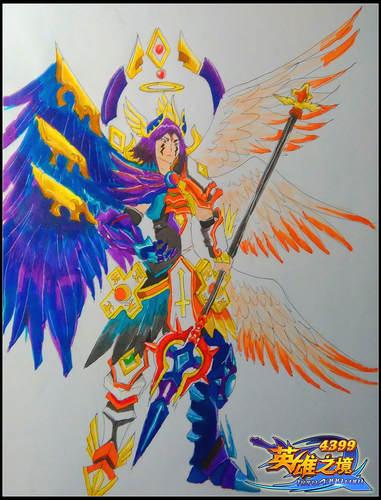 英雄之境绘画作品-原创英雄艾兰斯力