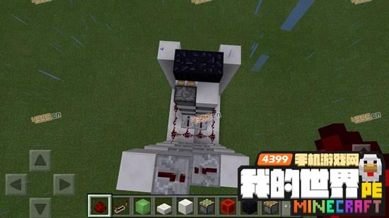我的世界手机版红石电梯怎么做