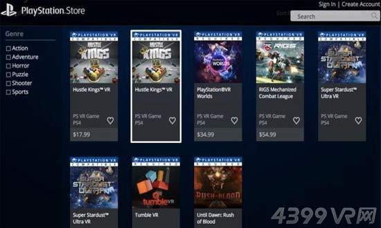 PSVR游戏价格