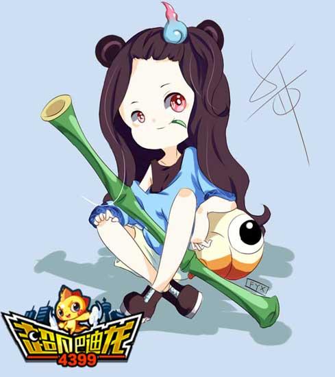 超凡巴迪龙女版功夫熊猫拟人绘画 4399北秋桑
