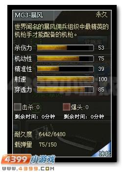 4399创世兵魂MG3-暴风属性图