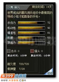 4399创世兵魂沙鹰-暴风属性图
