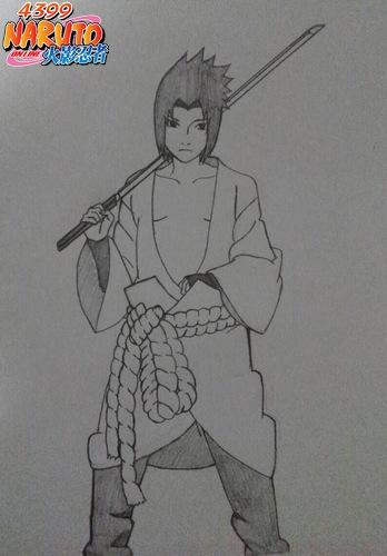 冷漠美男子手绘铅笔画