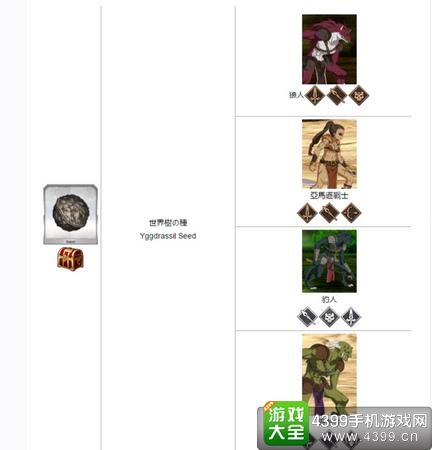 命运冠位指定世界树种