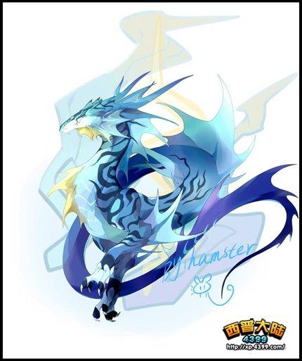 西普大陆手绘 涡氺紫蛟