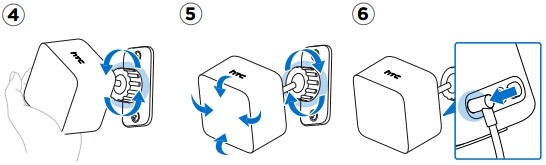 htcvive定位器电源线安装教程