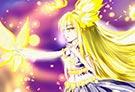 洛克王国手绘之金粉蝴蝶拟人