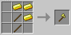 我的世界金斧怎么做
