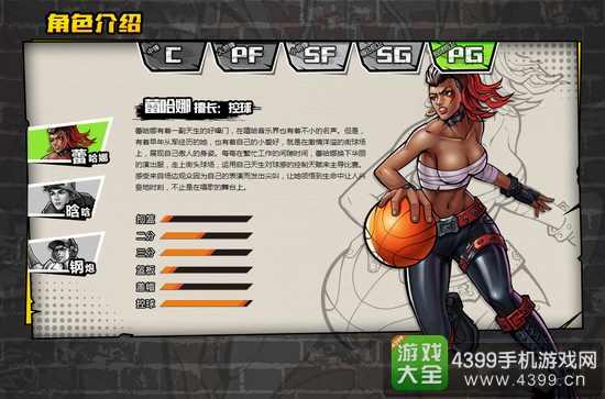 街头篮球手游PG控球后卫人物推荐