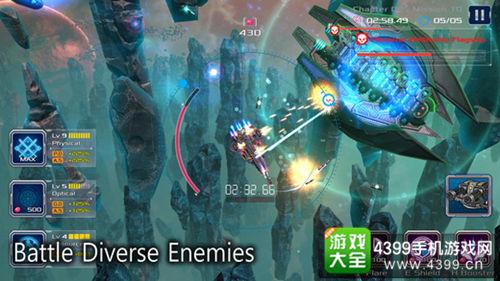 本站曾报道过未来科幻世界背景的星际作战游戏《战舰孤狼:太空射手