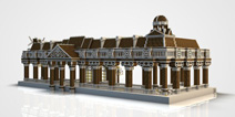 我的世界建筑物地图 锁斯林长廊欧式建筑存档下载