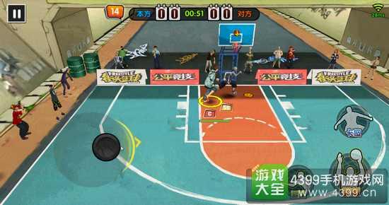 街头篮球手游中锋C怎么卡位