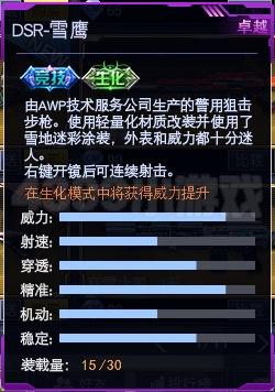 战争使命DSR-雪鹰武器属性图