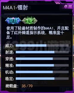 战争使命M4A1-镭射属性图