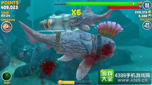 独角巨鲸_饥饿鲨:进化独角鲸可以吃巨齿鲨吗 方法详解_4399饥饿鲨:进化