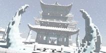 我的世界古风建筑物地图 冰雪城建筑存档下载