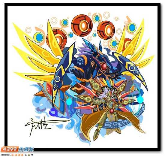 赛尔号自创精灵 霸气的远古精灵王