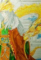 英雄之境绘画作品五方天帝印拟人