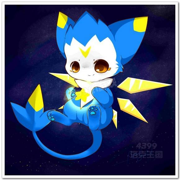 洛克王国手绘之抱星星の迪莫