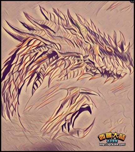 西普大陆手绘 恐怖の多刺魔蛇