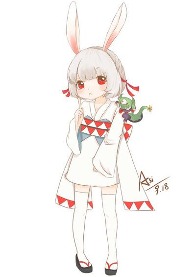 阴阳师山兔图