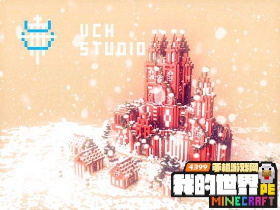 我的世界手机版圣诞节的城堡存档下载