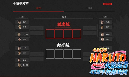 《火影忍者》手游无差别忍者格斗大赛年度总决赛今日启动
