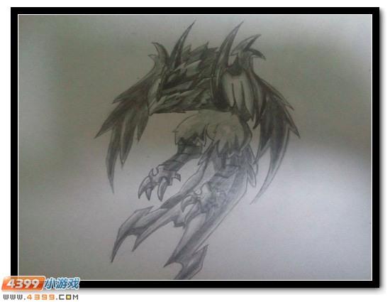 赛尔号手绘 铅笔绘艾格拉斯