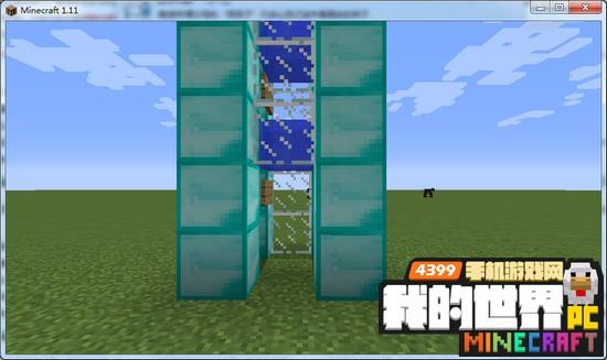 我的世界水电梯怎么做