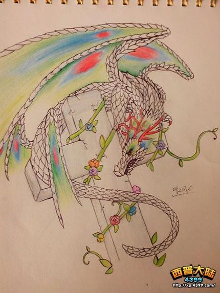 西普大陆手绘 自创樱槐