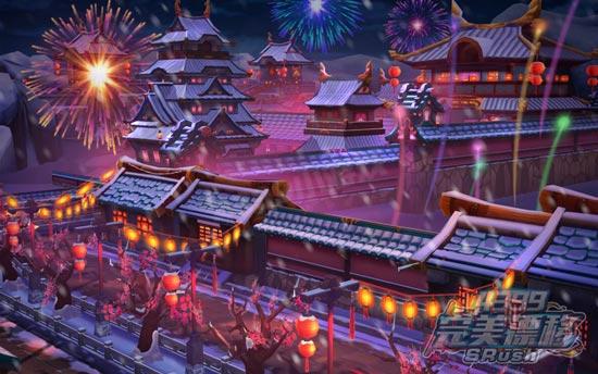 完美漂移瑞雪新春风景图