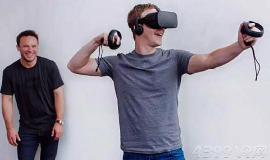 扎克伯格试玩oculus