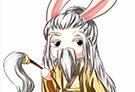 洛克王国手绘之兔仙人