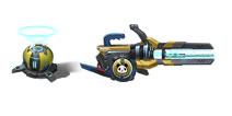 枪火战神屏障发射器+电子脉冲枪