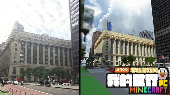 国外建筑团队在我的世界中建造芝加哥城