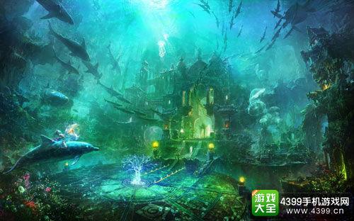 壁纸 海底 海底世界 海洋馆 水族馆 游戏截图 500_312