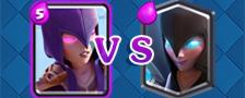 部落冲突皇室战争女巫vs暗夜女巫
