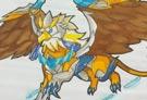 洛克王国手绘之超威狮鹫