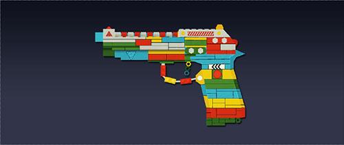 战争使命积木手枪