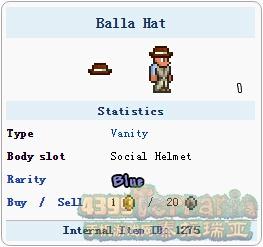 泰拉瑞亚巴拉的帽子