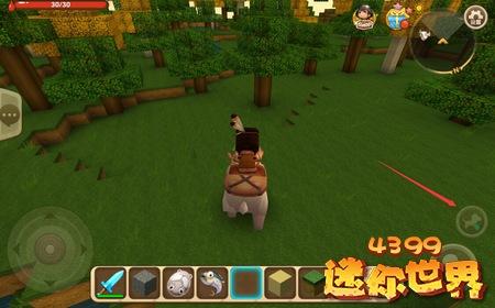 迷你世界怎么骑动物 动物驯服后怎么乘骑