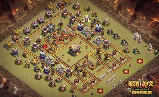 部落冲突10本阵型怎么布局 部落战防2和防3阵型