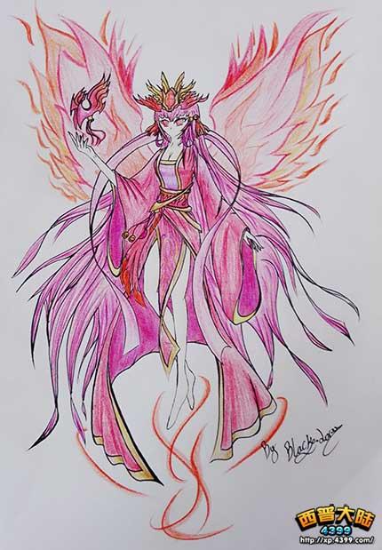 西普大陆手绘—弥音·帝凰圣女