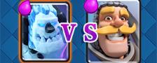 部落冲突皇室战争骑士vs戈仑冰人