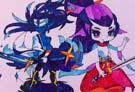 洛克王国手绘之星辰剑客和紫霞仙子