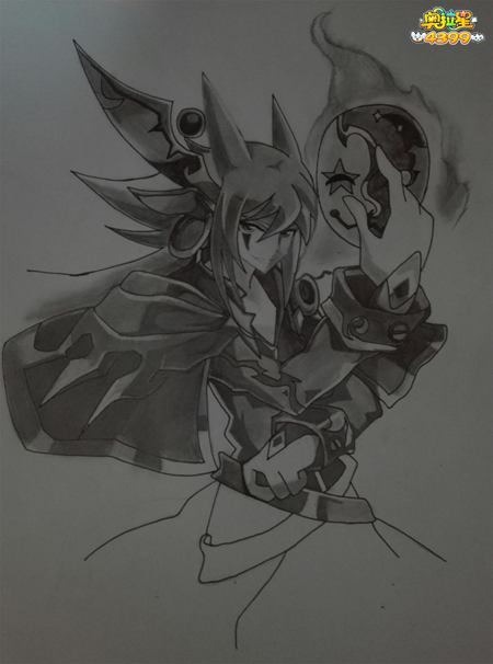 传奇归零者黑白手绘